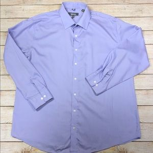 Kenneth Cole XL 17.5 Neck 34-35 Dress Shirt Purple